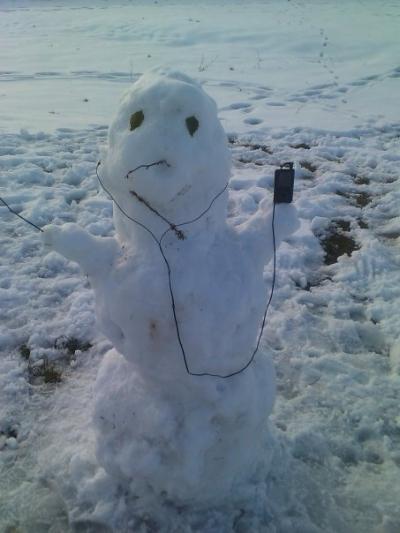 Модерен снежен човек